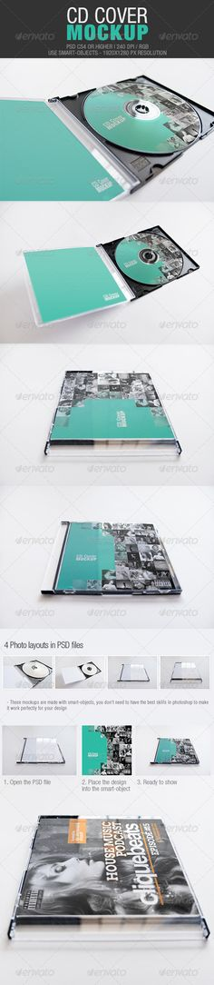 CD Cover Mockup - GraphicRiver Item for Sale