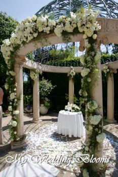 Gazebo decor idea wedding ideas pinterest gardens pergolas gazebo dressed in white florals wedding gazebogarden junglespirit