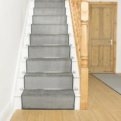 Aztec Grey Stair Carpet Runner - Free delivery on orders over & 30 day return guarantee from Carpet Runners UK. Grey Stair Carpet, Dark Carpet, Best Carpet, Carpet Stairs, Modern Carpet, White Carpet, Hallway Carpet Runners, Stair Runners, Stairs With Carpet Runner