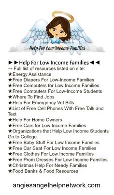 On this page you will find help for low-income families and organizations that help with things such as: rental assistance food assistance holiday assistance car repair assistance energy assis Energy Assistance, Financial Assistance, Food Assistance, Free Stuff By Mail, Get Free Stuff, Where To Find Jobs, Single Mom Help, List Of Resources, Job Help