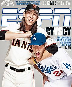 2012 MLB Preview: Cy Young winning pitchers Tim Lincecum (San Francisco Giants) and Clayton Kershaw (Los Angeles Dodgers)