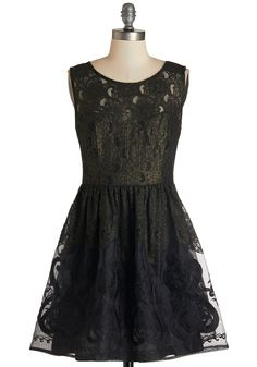 Poet's Delight Dress. My, how this black lace dress lends itself to lovely lyrics! #black #prom #modcloth