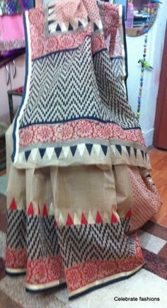 A very bright and elegant designer South Cotton printed saree. It is a must have for all women who loves to wear saree. It has a traditional yet modern look. The saree comes with a 1 mt matching blouse piece.