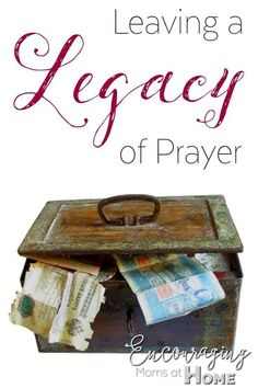 There's nothing better you can do for your family than to pray for them.  It will leave a legacy that will last.  Included in this post are FREE printable prayer journals.