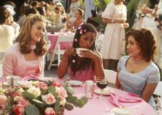 Cher and Dionne, two of the most fashion forward bridesmaids of their time!