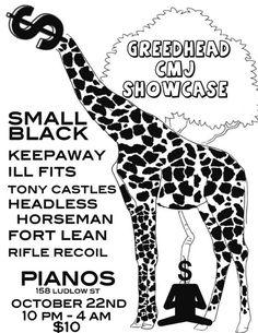 Greedhead Presents: Small Black. Keepaway. Ill Fits. Tony Castles. Headless Horseman. Fort Lean. Rifle Recoil.