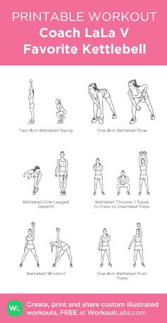 Kettlebell Core Workout: my custom printable workout by ...