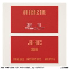 35 best trendy business cards images on pinterest business cards red with gold text professional business cards colourmoves
