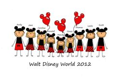 Custom Family and Group T-shirt design for Disney and other vacations JeniMadeIt - Home
