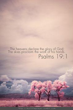 Psalms 19:1♡