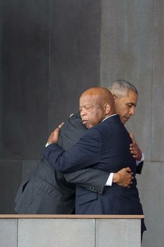 President Barack Obama  and Civil Rights Leader &  Congressman John Lewis.  Mutual love and respect.