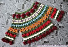 Graficos y Crochet: Blusa en colores