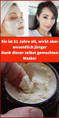 She is 51 years old, but looks much younger - thanks to this homemade mask! - - She is 51 years old, but looks much younger – thanks to this homemade mask! – – She is 51 - Beauty Care, Diy Beauty, Beauty Hacks, Organic Skin Care, Natural Skin Care, Mascarilla Diy, Skins Minecraft, Hair Care, Diy Hair Mask