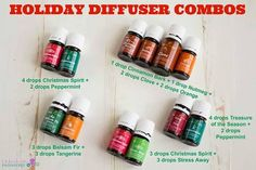 Young Living Essential Oils: Holiday Diffuser Combos | For more information and…