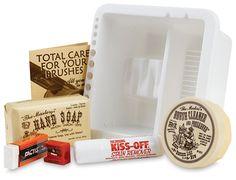 Artist's Survival Kit - Brush Cleaner & Preserver, Artist's Hand Soap, Kiss-Off Stain Remover, Soft Eraser, Pencil Sharpener