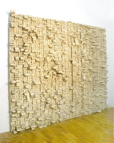 Number 23, Leonardo Drew                               Canvas, Cotton, and Rusted Nails on Wood                                96 x 122 x 9 inches