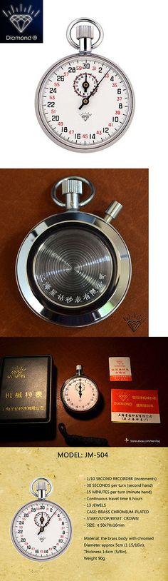 Stopwatches 166149: Diamond Stopwatch 504 Mechanical Watch Timer 13 Jewel Brass Chromed Professional -> BUY IT NOW ONLY: $42.9 on eBay!