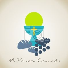 Fotomural mi primera comunion - arbol - comunion • PIXERS.es