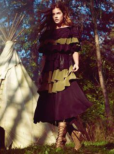 Earth, Wind And Fire: Barbara Palvin By Regan Cameron For Uk Harper's Bazaar March 2015 - Sonia Rykiel