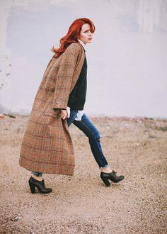 Vintage Bill Blass Tweed Coat, love the Dries shoes