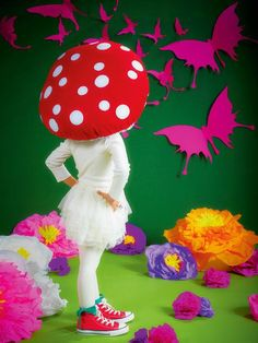 Nothing says whimsical like a magic mushroom costume. This poofy headdress is so fun and unique for kids of all ages. Or, wear it with a little white dress for an adult costume!