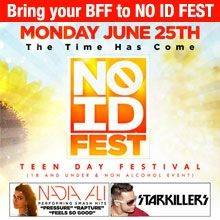 Giveaway: Bring Your BFF to NO ID Fest + Win a Meet & Greet with Nadia Ali, Starkillers + MORE!  http://www.wantickets.com/Events/108267/NO-ID-FEST-1ST-TEEN-FESTIVAL-IN-HISTORY/?trackingcode=PINsales