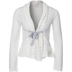 Odd Molly Top Drawer Cardigan ($250) ❤ liked on Polyvore featuring tops, cardigans, chalk, jumpers & cardigans, womens-fashion, shawl collar cardigan, white cardigan, white top, odd molly and cardigan top