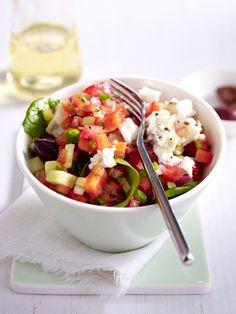 Griechischer Salat mit Feta