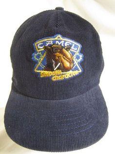 03fcb805 Joe Camel Smooth Character Hat Tobacco Cigarettes Corduroy Blue Snapback Cap  VTG #JoeCamel #Camel