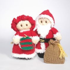 95071cb270e Santa and Mrs Claus Bitsy Dolls - Knitting Patterns at Makerist Christmas  Knitting Patterns