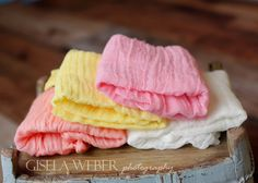 RTS Newborn Cheesecloth Peach Cheesecloth Layers by SnassyCrafter