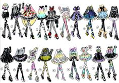 CLOSED- 19 pack Outfits by Guppie-Adopts