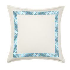 Features:  -Hidden zipper closure.  -Pillow form insert.  -Shell made in India, filled and finished in USA.  -Soft cotton canvas outer shell.  -Square shape.  Product Type: -Throw pillow.  Style: -Tra