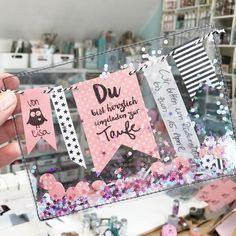 DIY Wimpelketten-Schüttelkarten selber machen! Freebies und das Material bekommst du bei uns im Shop: www.hansemann.de // Schau dort bei IDEEN um noch mehr Varianten zu entdecken.