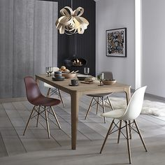 Buy Cream Vitra Eames DSW Side Chair, Light Maple Leg from our Dining Chairs range at John Lewis & Partners. Plastic Dining Chairs, Wooden Dining Chairs, Wooden Adirondack Chairs, Scandinavian Dining Chairs, Table And Chairs, Side Chairs, Dining Tables, Kitchen Tables, Vitra Chair