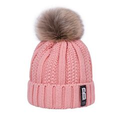2018 New Pom Poms Winter Hat for Women Fashion Solid Warm Hats Knitted  Beanies Cap Brand Thick Female Cap Wholesale e5a852d724d8