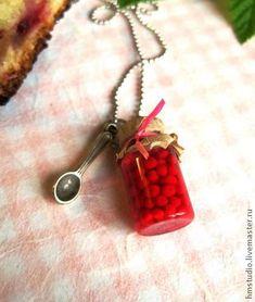 Кулон Баночка с вишневым вареньем – «Лето у бабули» - Ярмарка Мастеров - ручная работа, handmade