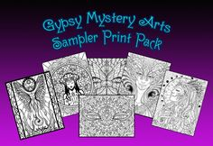 Download 5 Coloring Page Sampler Pack By Cristina McAllister
