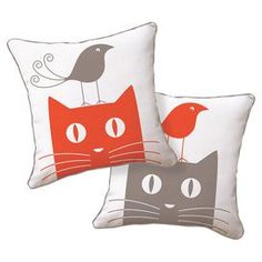 Add a touch of style to your sofa, chaise, or lounge with this lovely pillow, the perfect companion to a glass of merlot and your latest book club read.  Product: PillowConstruction Material: Cotton canvas and polyester fillColor: Red, grey and whiteFeatures:  Zippered closure Insert included Dimensions: 18 x 18 Note:  Includes one pillow. Image depicts front and back of pillow. Cleaning and Care: Hand wash