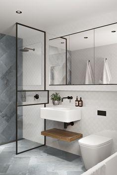 Carlton Matt Concrete Look Tile Simple Bathroom, Modern Bathroom Design, Bathroom Interior Design, Master Bathroom, Bathroom Taps, Bathroom Ideas, Colorful Bathroom, Bathroom Trends, Interior Livingroom
