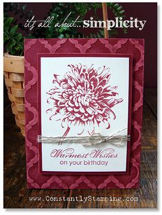 Simplicity1; Constantly Stamping - Connie Collins; stampin up