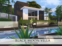 The Sims Resource: Black Moon Villa by Pralinesims • Sims 4 Downloads
