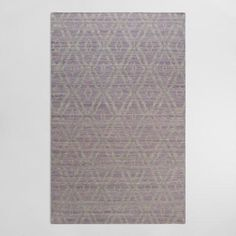 One of my favorite discoveries at WorldMarket.com: 5'x8' Plum and Gray Wool Kilim Galen Area Rug