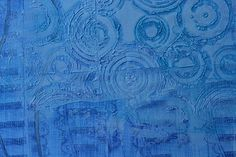 stamping embossing modeling paste, gesso, apply watercolors
