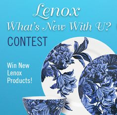 To enter the Lenox What's New With U Contest, simply create a Pinterest board featuring new ideas for summer entertaining. Be sure to include some Lenox products that you love. Add @Lenox as a pinner and/or tag #Lenoxwhatsnewwithu on your board. Two winners will each receive a prize package of new Lenox products. | U.S. residents only. Entries must be posted by 11:59 PM on 8/31/13.