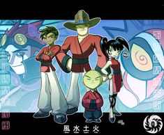 Xiaolin Showdown Fan Art: four dragons Cartoon As Anime, Cartoon Kunst, Cartoon Games, Cartoon Shows, Cartoon Art, Duelo Xiaolin, Kung Fu, Old Cartoon Network, Desenhos Cartoon Network