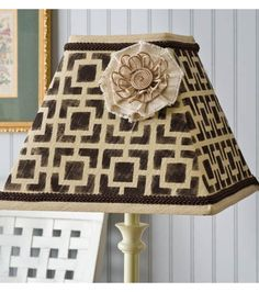 Upcycle a plain lampshade to something fabulous with @Alissa Huybers Crafts #upcycle