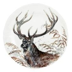 The Gien Sologne pattern is a complete dinner service named for the Sologne region in France where game is abundant. Gien Sologne features various motifs that capture and celebrate game animals from the Sologne. Square Plates, Animal Games, China Painting, Merry And Bright, Reindeer, Vintage Christmas, Dinnerware, Art Decor, Moose Art