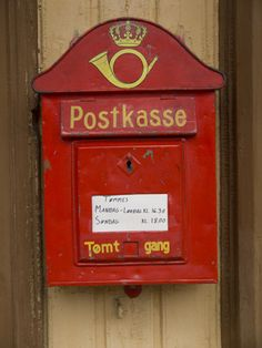 ~ Old Norwegian Mailbox ~ Old Mailbox, Antique Mailbox, Vintage Mailbox, Trondheim, Stavanger, Lofoten, Post Bus, Beautiful Norway, You've Got Mail