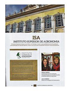 Entrevista à revista info@tecnicelpa de Helena Pereira (Coordenadora do CEF e Presidente do Conselho Científico do ISA)  e da investigadora do CEF, Ana Lourenço. Publicada na revista de Fevereiro de 2016